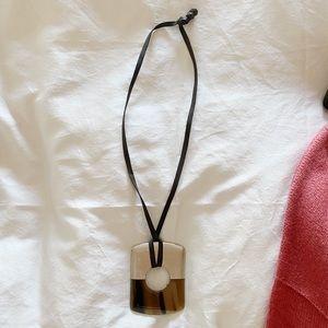 hermes horn pendant